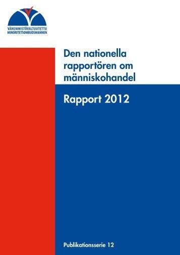 Rapport 2012 - Vähemmistövaltuutettu