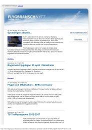 Synnerligen aktuellt... Regionala Flygdagen 25 ... - Transportgruppen