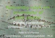 Højstammede gade- og vejtræer - Danske Planteskoler