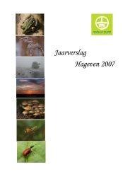 Jaarverslag Hageven 2007 - Natuurpunt Neerpelt