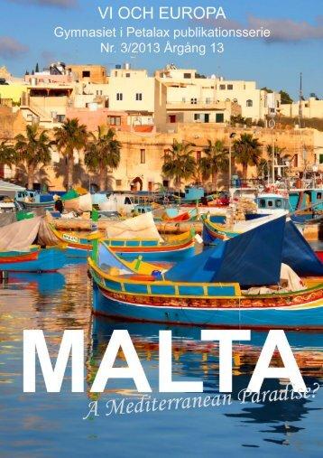 1. Maltas historia fram till den brittiska tiden - Malaxedu.fi