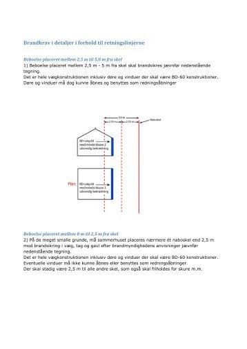 Brandkrav i detaljer i forhold til retningslinjerne - Nordfyns Kommune