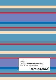 Småföretagen Sveriges största skattebetalare - Företagarna