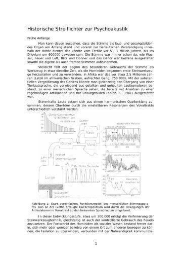 Historische Streiflichter zur Psychoakustik - Acoustics Research ...