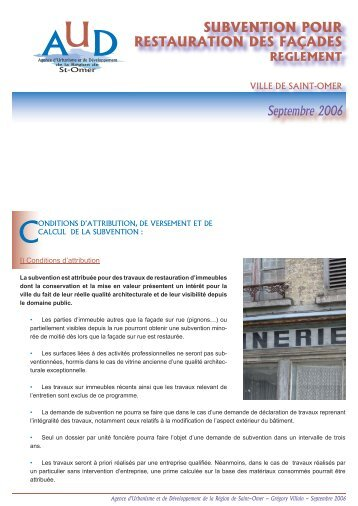 restauration facades.indd - Saint-Omer