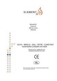 Gebruiksaanwijzing Element4 Briels, Dali, Petri, Constant - UwKachel