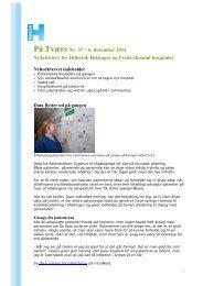 På Tværs Nord nr. 37 061212.pdf - Nordsjællands Hospital