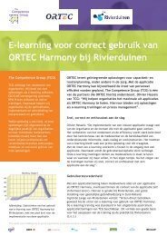 ORTEC Harmony - The Competence Group