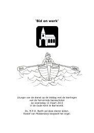 'Bid en werk' - Hervormde Gemeente Barneveld