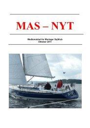 Medlemsblad for Mariager Sejlklub Oktober 2011