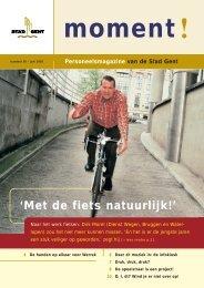 'Met de fiets natuurlijk!'