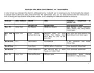 Municipal Solid Waste Removal Routes and Times Schedule In ...