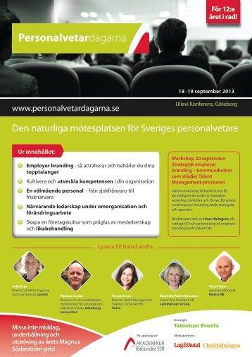 Den naturliga mötesplatsen för Sveriges ... - Talentum Events