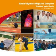 Special Olympics Magazine 2011 - Sportservice Overijssel