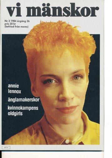 Nr 3 1984 örgång 36 pris 20 kr (befriod från moms) - Vi Mänskor