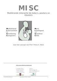 MISC Mediërende interactie bij baby's, peuters en kleuters - CeSMOO