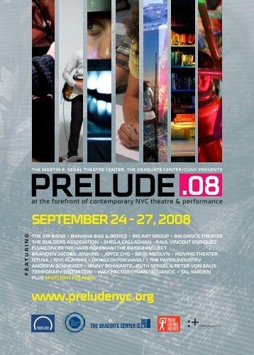 PRELUDE - Culturebot