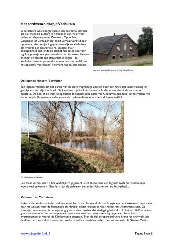 Het verdwenen dorpje Verhuizen - Mijn Gelderland