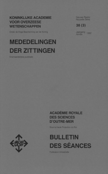 (1992) n°3 - Royal Academy for Overseas Sciences