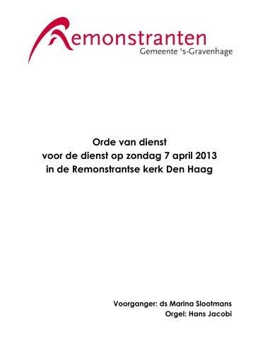 VERLIES HET ZOUT IN JEZELF NIET - Remonstranten Den Haag