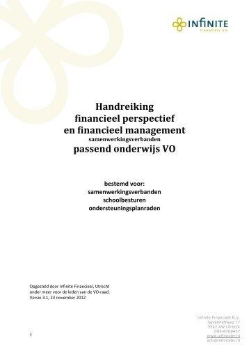 Financiële handreiking Passend onderwijs vo - Kennisnet
