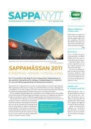 SappaNytt nr 3 september 2011 (pdf)
