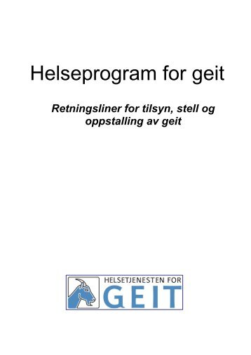 Helseprogram for geit