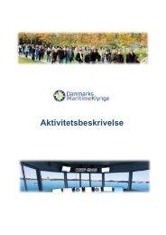 aktivitetsbeskrivelse for danmarks maritime klynge