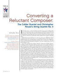 Converting a Reluctant Composer: - Chamber Music America