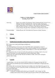 verslag vergadering 18 juni 2007