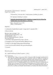 Referat fra bestyrelsesmødet den 9. januar 2013 i Årre