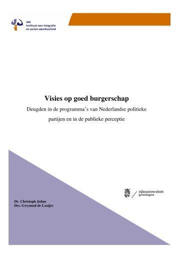 Visies op goed burgerschap: deugden in de ... - Instituut ISW
