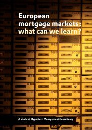 European mortgage markets: what can we learn? - Hypsotech ...