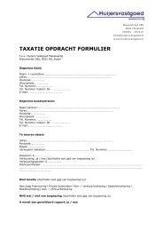 Taxatie opdracht formulier 2012 - Huijers Vastgoed Makelaardij