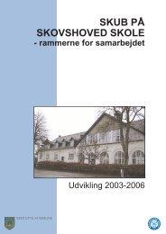 SKUB på Skovshoved Skole -rammerne for samarbejdet - marts 2004