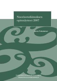 Nuorisotutkimuksen opinnäytteet 2007 - Nuorisotutkimusseura