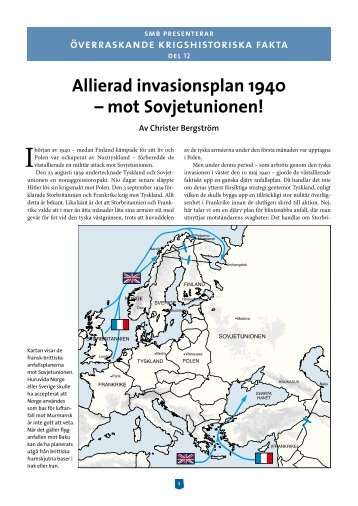 Allierad invasionsplan 1940 – mot Sovjetunionen! - Krigsmyter