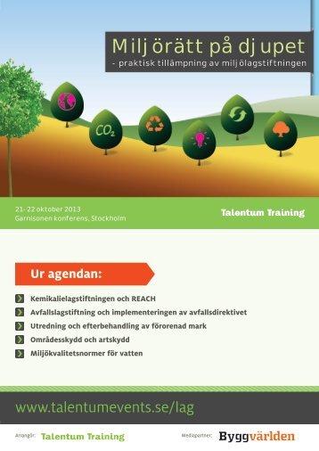 Miljörätt på djupet - Talentum Events