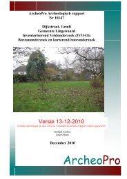 Bijlage 2 Archeologisch onderzoek - Servicepagina Gemeente ...
