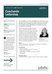 Coachande Ledarskap - Gällöfsta Ledarutveckling