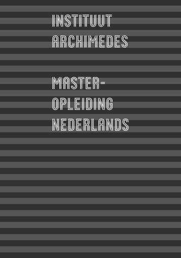 Studiegids 2007-2008 Nederlands - Bachelors - Hogeschool Utrecht