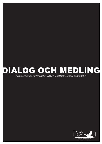 Dialog och medling - Forum för Fredstjänst
