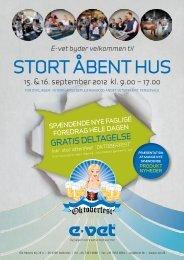 STORT ÅBENT HUS - E-vet