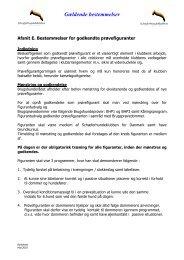 Afsnit E. Bestemmelser for godkendte prøvefiguranter