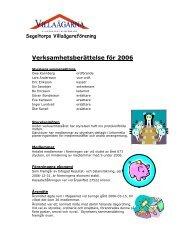 Verksamhetsberättelse 2006 - Villaägarna