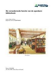 De veranderende functie van de openbare bibliotheek - Eelke de ...