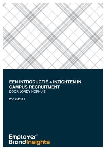 een introductie + inzichten in campus recruitment - Employer Brand ...