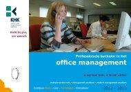Bachelor office management - Katholieke Hogeschool Kempen