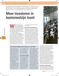 Meer investeren in koeienwelzijn loont - Vetvice