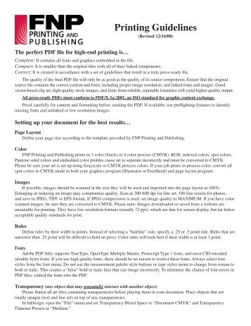 Print Guidelines.indd - FNP Printing & Publishing